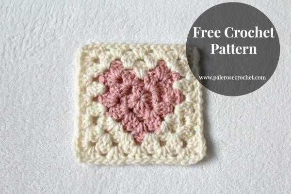 Crochet Heart Square (Crochet | Häkeln
