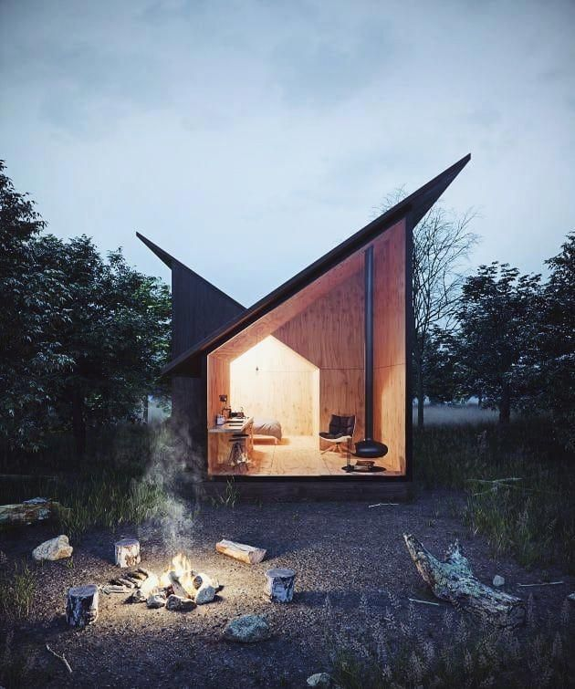 Diseno Casa Bosque: #AllofRenders Cabin In The Woods ♥ Architect Designe