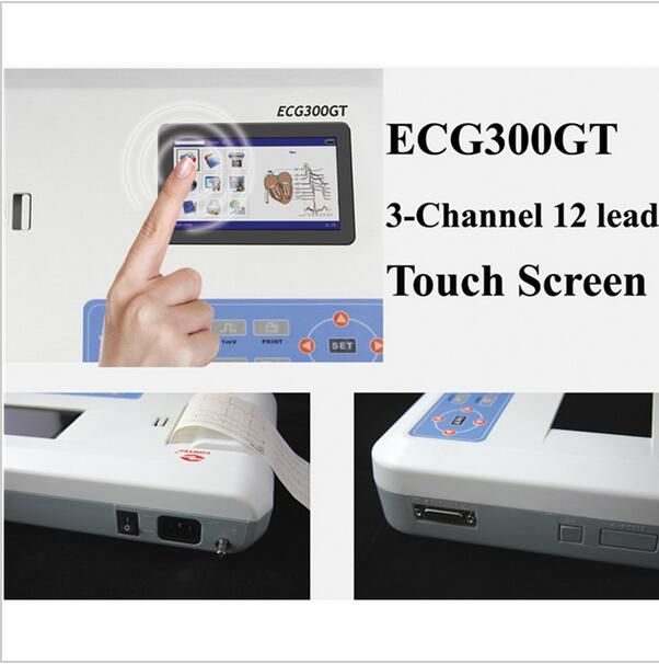 Digital 3 Channel 12 Lead Ecg Ekg Machine Software Touch Screen Contec Ecg300gt Affiliate Cool Things To Buy Touch Screen Health Care