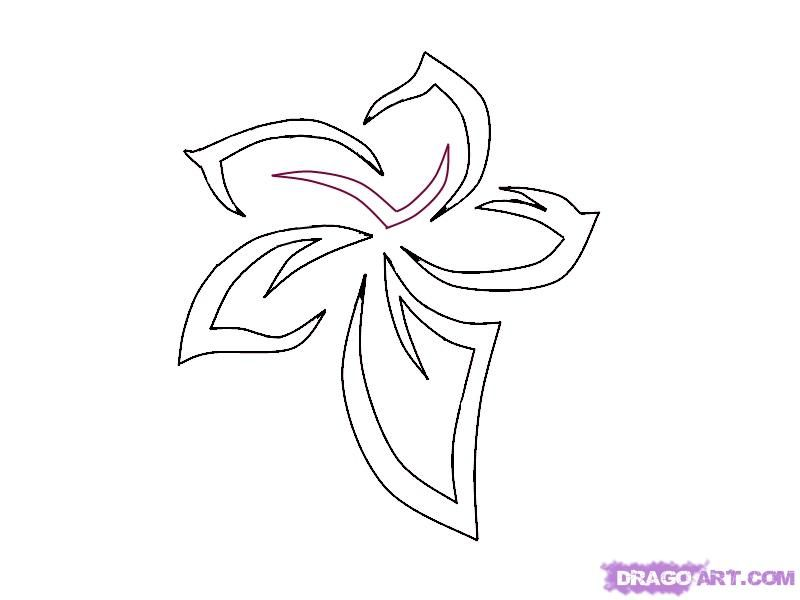 Simple Flower Designs | how to draw a tribal flower tattoo ...