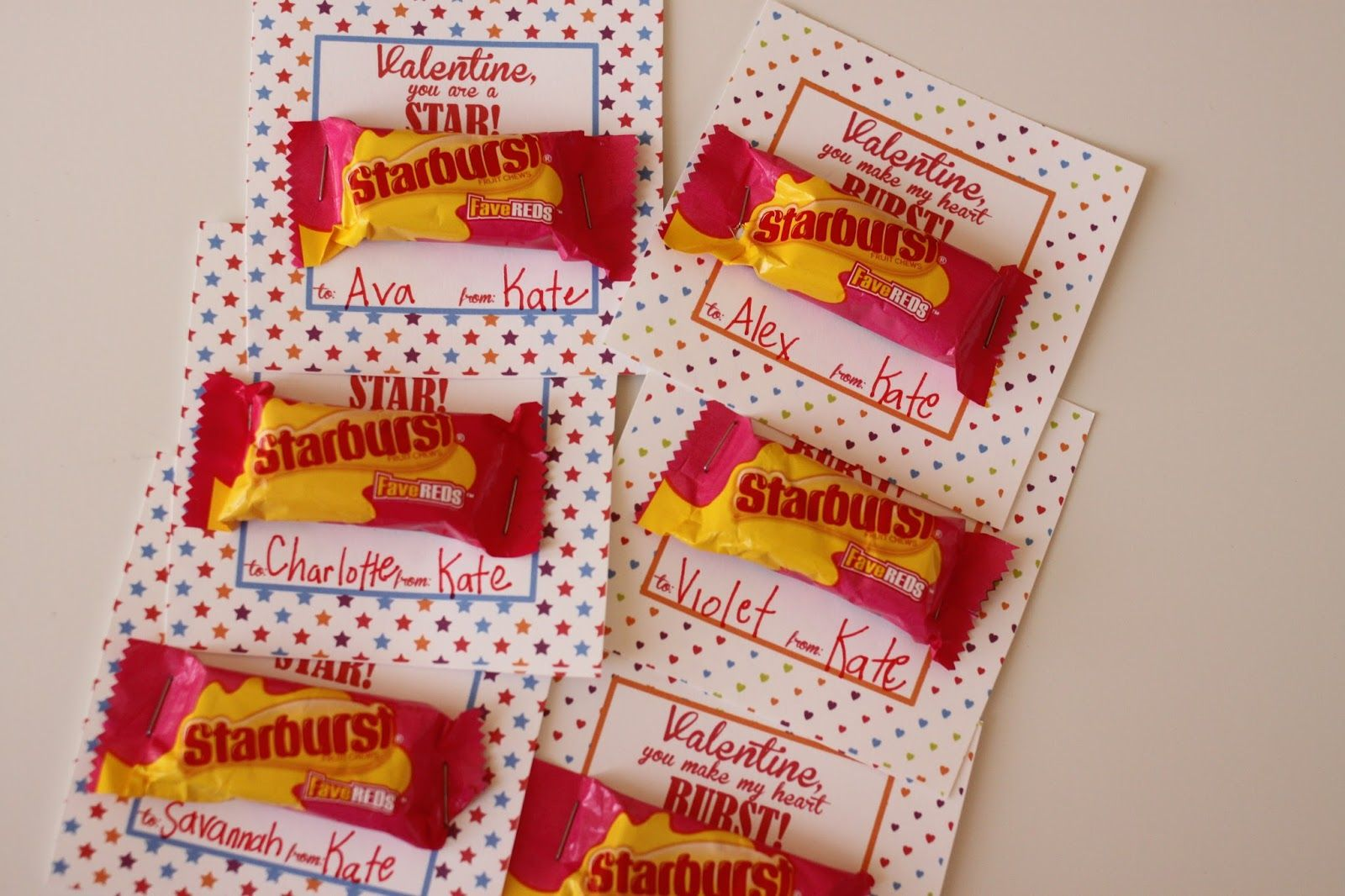 Starburst Valentine Ideas Free Printable The Larson Lingo