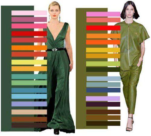 с каким цветом сочетать оливковый в одежде - Поиск в ...