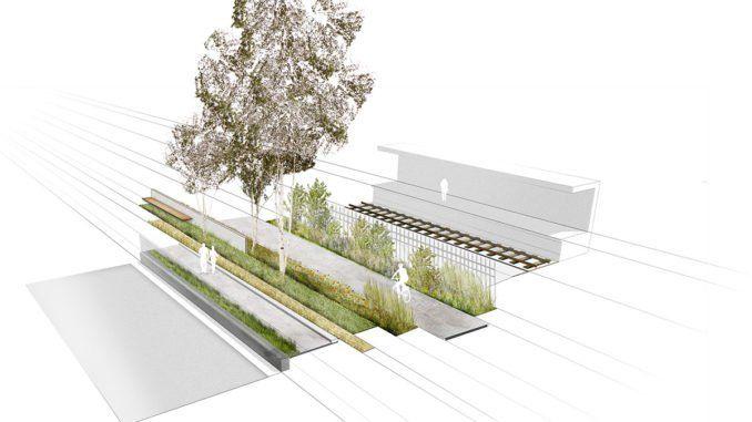 Mini Holland 15 130 Linear Park Section 1 Landscape Architecture Design Parking Design Linear Park