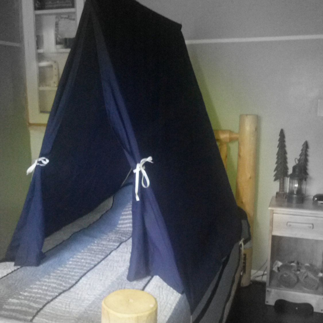 This one of a kind twin size Teepee Bed Tent is perfect for any child & This one of a kind twin size Teepee Bed Tent is perfect for any ...
