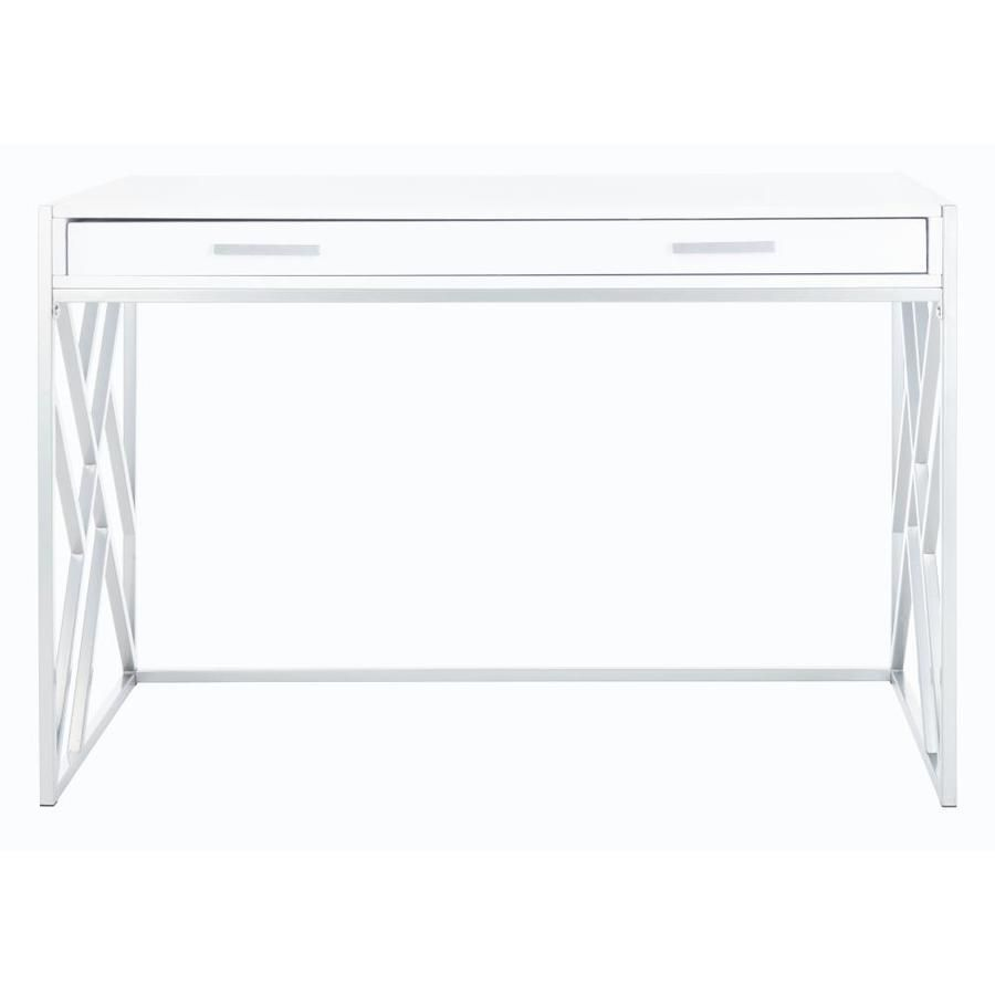 Safavieh Elaine Modern Contemporary White Writing Desk Dsk2201b In 2020 White Writing Desk Modern Contemporary Safavieh
