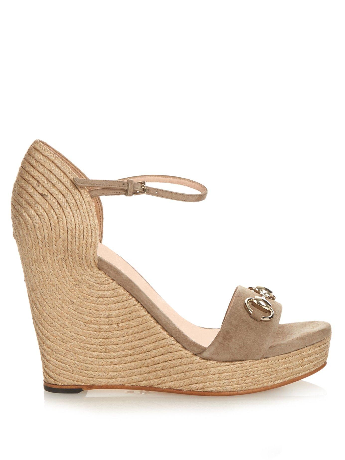 27953c553105 Carolina horsebit suede wedge sandals