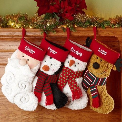 Personalized Furry Friends Stockings Christmas Stockings...an Extra Stocking  Will Be Placed By
