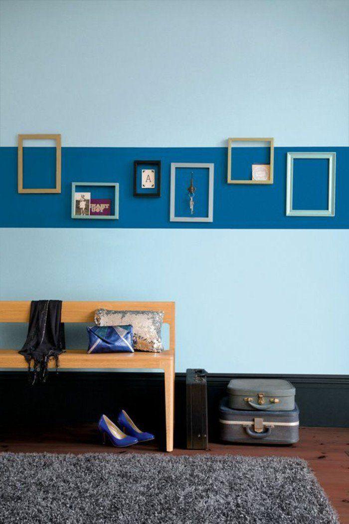 couleur peinture mur double couleur couleur de peinture pour chambre bleu clair bleu fonce