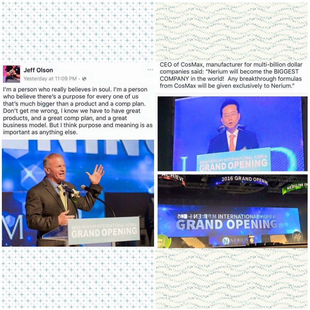 YOU ASK WHY??? These are my simple ANSWERS!!!!!   1. A billion dollar company in less than 4 years  2. #1 consumer product/service on Inc. 500 list  3. Science and clinical trials that PROVE our efficacy!!   4. Our products help people feel and look better  5. GLOBAL EXPANSION IS HAPPENING NOW!  6. That's WHY!!  Message me.