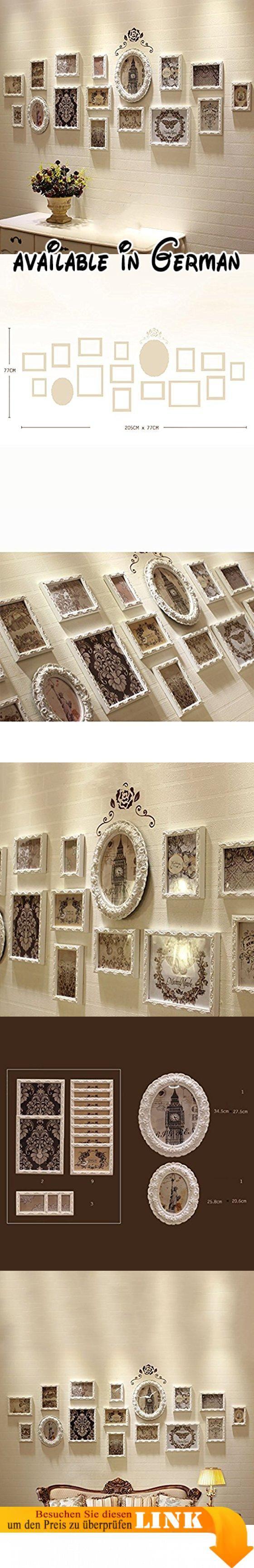 G Y Foto Wand Europäischen Stil Massivholz Kreative Wandbehang 16  Bilderrahmen Kombination Wohnzimmer Esszimmer Collage Bilderrahmen.