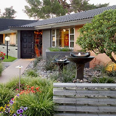 27 inspiring outdoor makeovers front yards shallow and for Redesigning the front of your house
