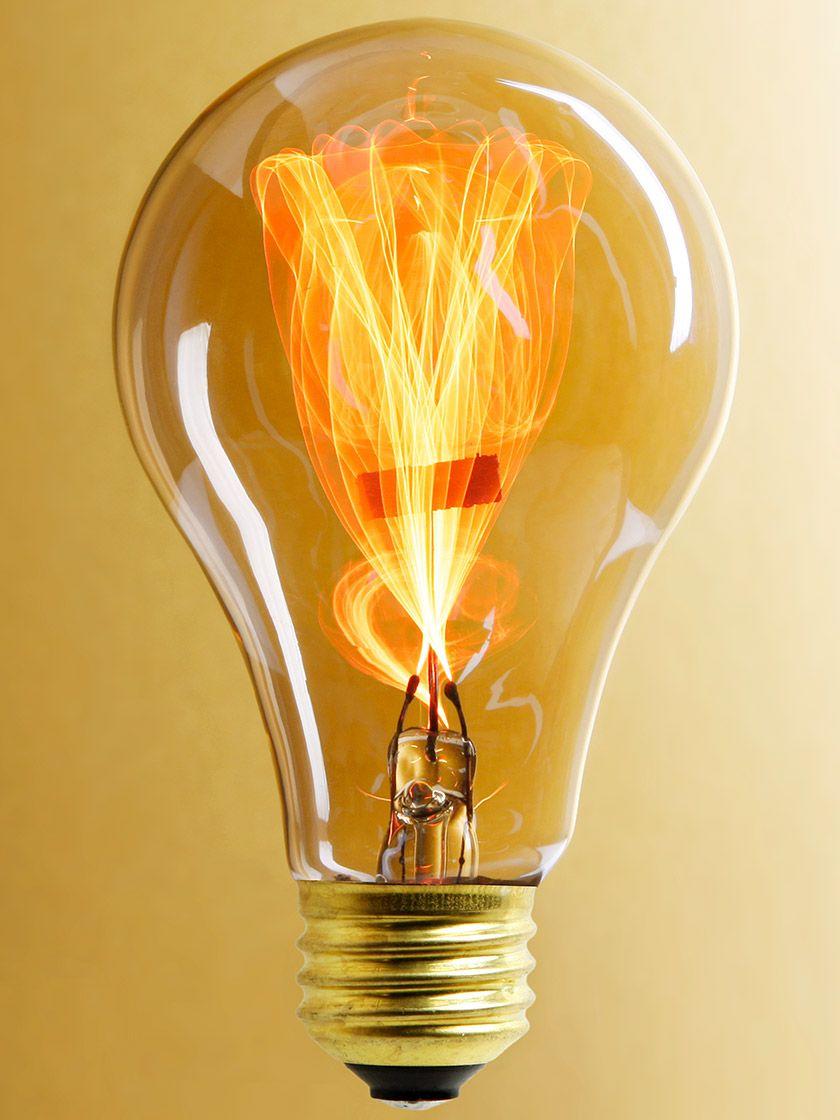 Balafire Flicker Carbon Filament Light Bulb 15 Watt Vintage Light