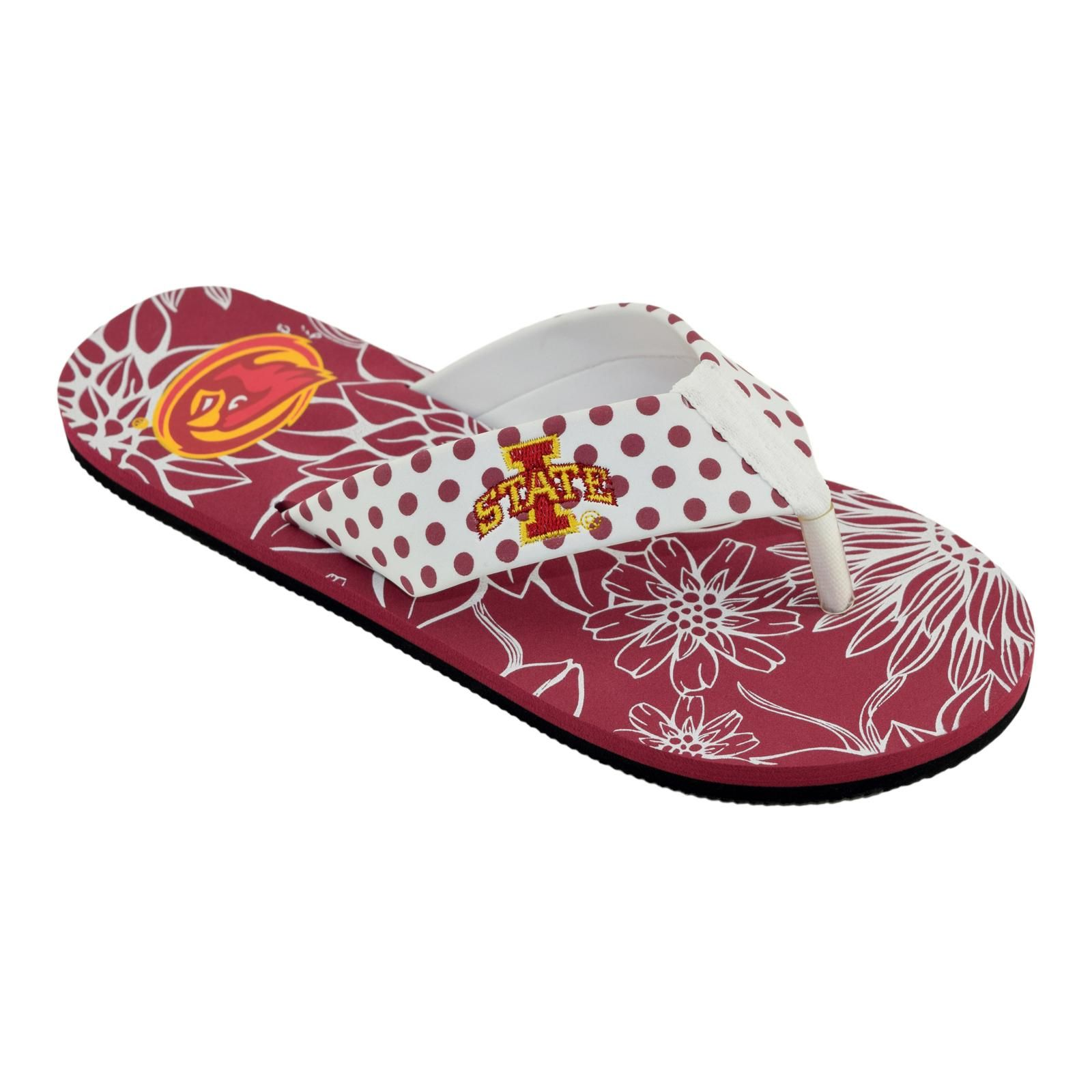 NCAA Womens Iowa State Cyclones FlipFlop XL Red