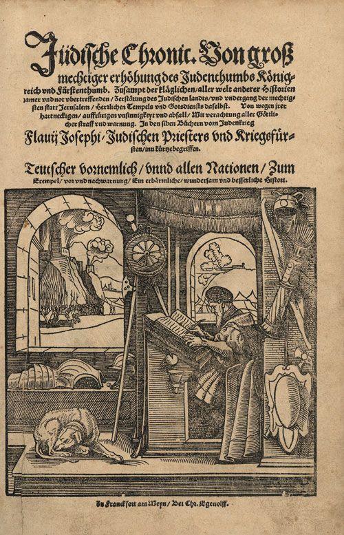 Flavius Josephus Edition Of 1552 Flavius Josephe Wikipedia Histoire Ancienne Antiquite Guerre