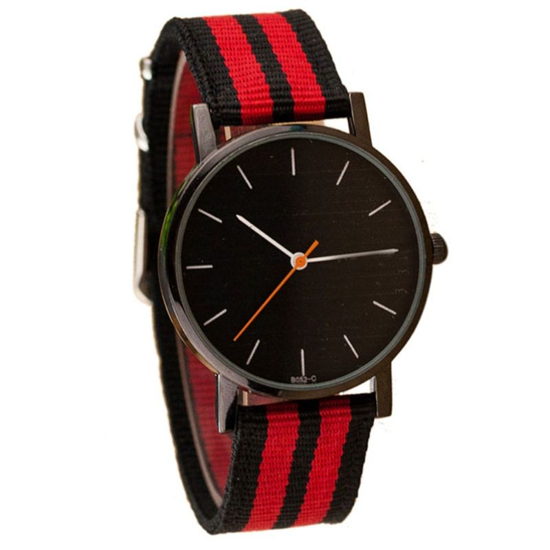 $4.62 (Buy here: http://appdeal.ru/93l8 ) Hot sale Brand Luxury Women Men Quartz Watches Casual Nylon Fabric Strap Girl Boy Military Wristwatch Hours Relojes Mujer well for just $4.62