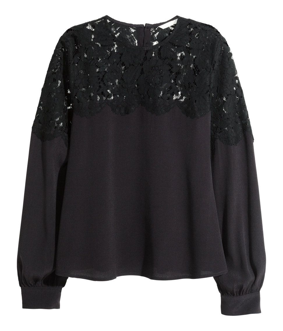 h and m black blouse