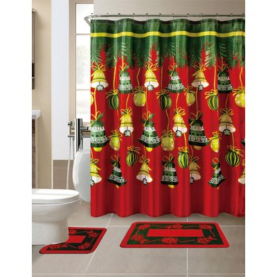 The Holiday Aisle 15 Piece Christmas Bath Set Hooks Christmas