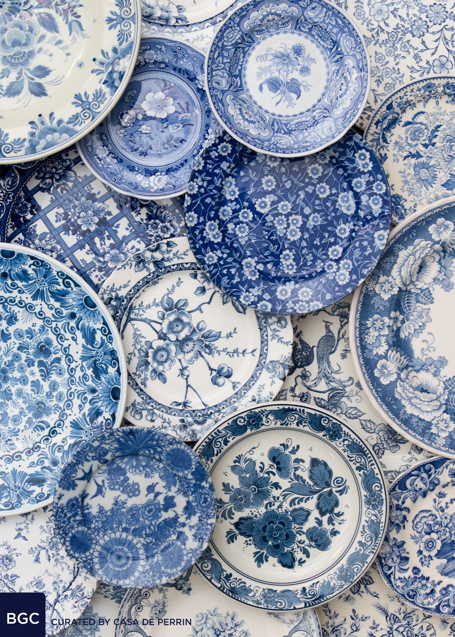 Blue And White Plates blue garden collection | dinner plate, salad plate, bread plate