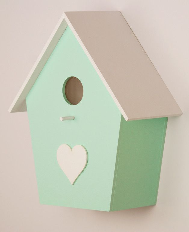 vogelhaus lampe f rs kinderzimmer in mint wandlampe child 39 s room lamp as bird house made by. Black Bedroom Furniture Sets. Home Design Ideas
