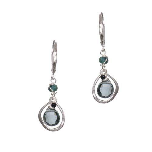 Ring Frame Earrings: Slate Blue Quartz $68.00