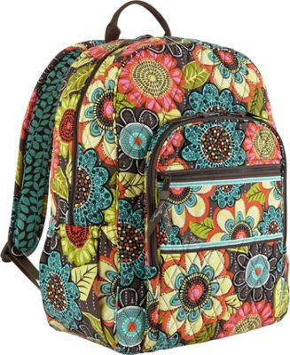 11ceb20f7676 Vera Bradley Campus Backpack Flower Shower - via eBags.com!