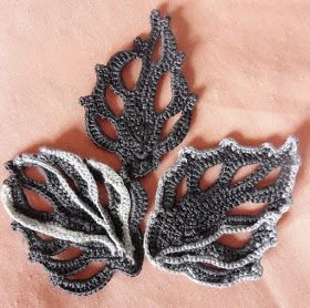 Tina's handicraft : crochet flowers for irish lace #irishlace