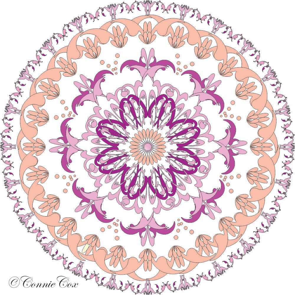 DIY Love Lines Download Kaleidoscope/Medallion Coloring Page to ...