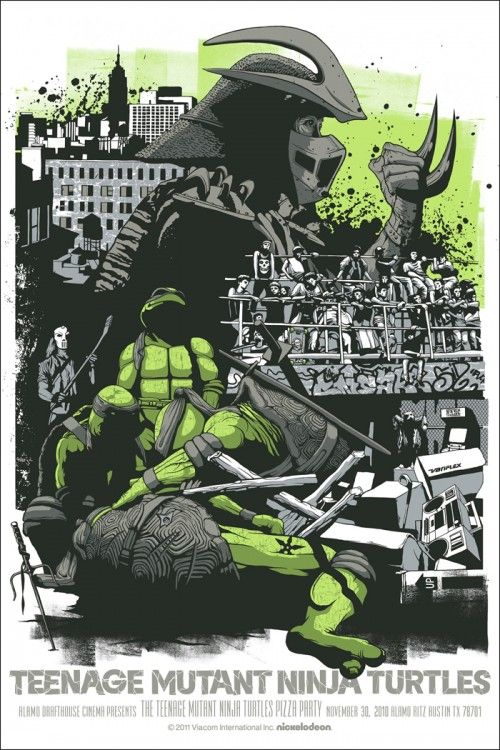 25 Artist Renditions Of Movie And Tv Posters Ninja Turtles Movie Teenage Mutant Ninja Turtles Movie
