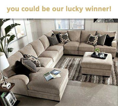 Win 1000 Worth Of Ashley Furniture Sectional Sofa With Chaise Living Room Designs Home