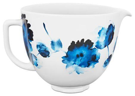 5 Quart Patterned Ceramic Bowl Ksm2cb5piw Kitchenaid