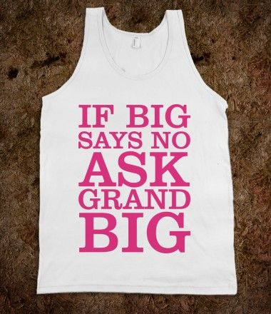 Big Sis Lil Sis Reveal Frat Tank - Sweet - Ask GBig