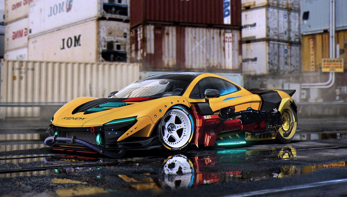 Mclaren P1 Back To The Future Conceptual Car Designs By Khyzyl Em
