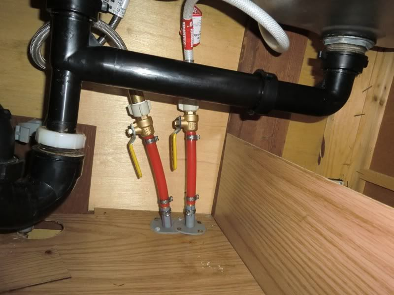 Pex under sink google search kitchen pinterest sinks for Pex water line problems