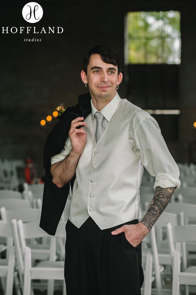 Our Goth Groom. Photo by Hoffland Studios | Houston Wedding Photographer