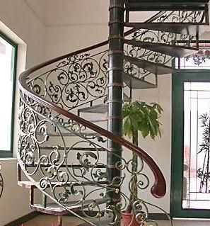 Want To Replace The Wooden Rails On Spiral Staircase With Wrought Iron