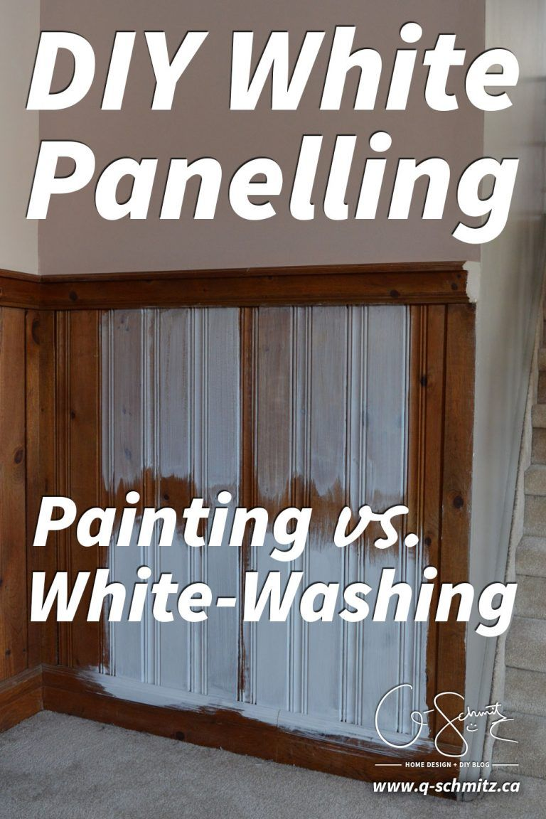 Painting Vs. Whitewashing Panelling (and Brick