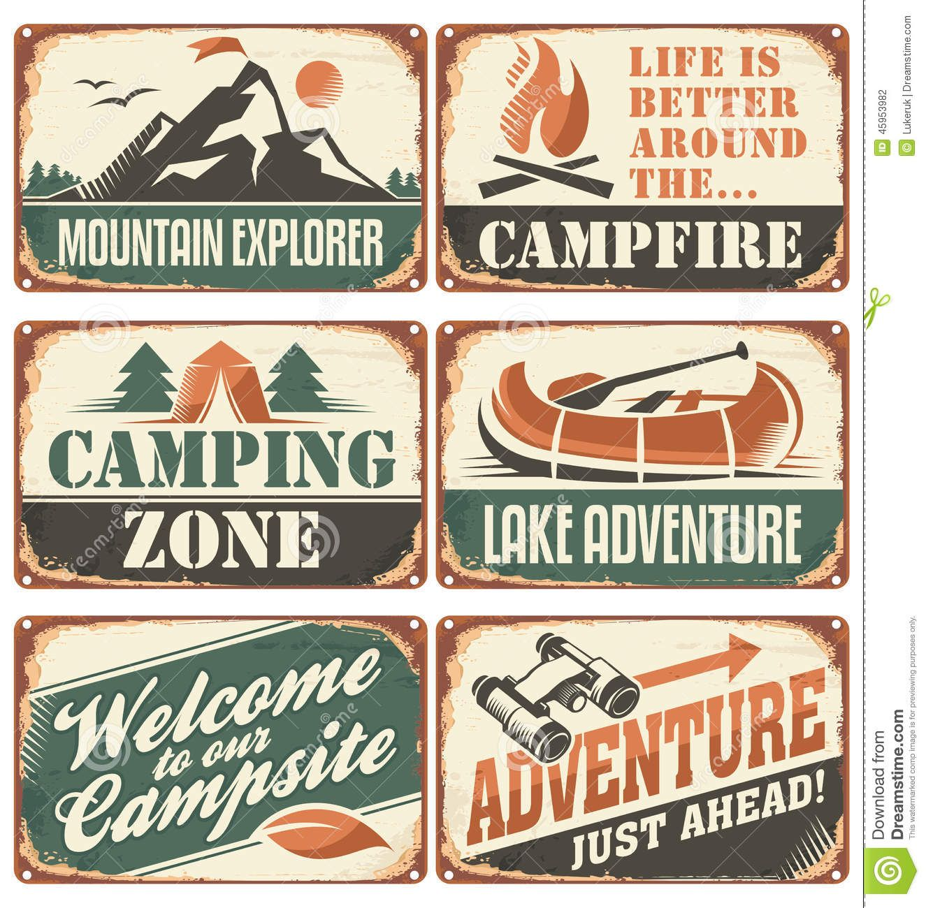 Outdoor Vintage Signs Design