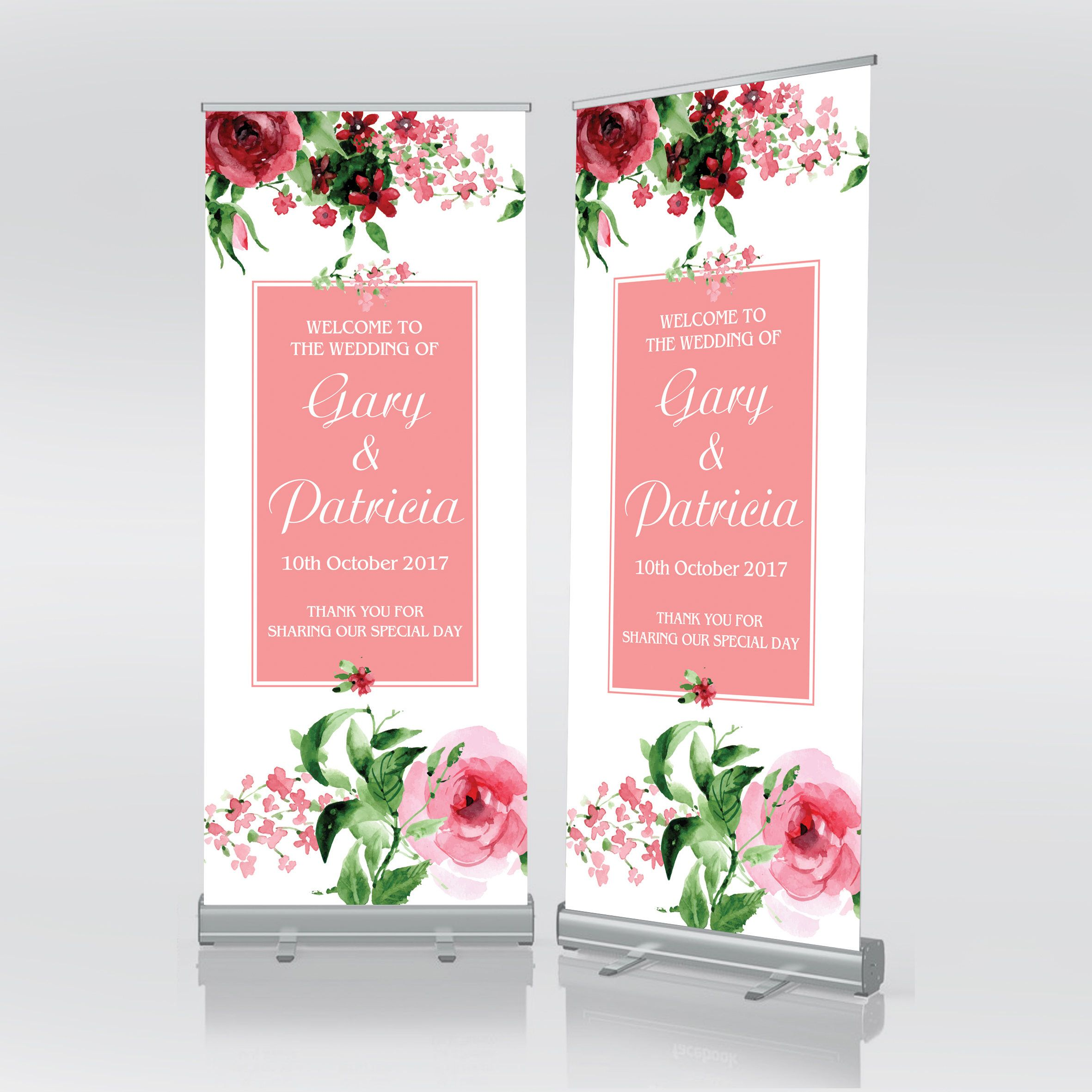 Free Postage Wedding Welcome Sign Decorations Custom Banner Large