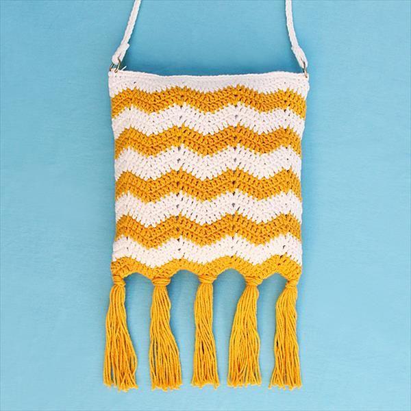 Crochet Fringe Tide Bag