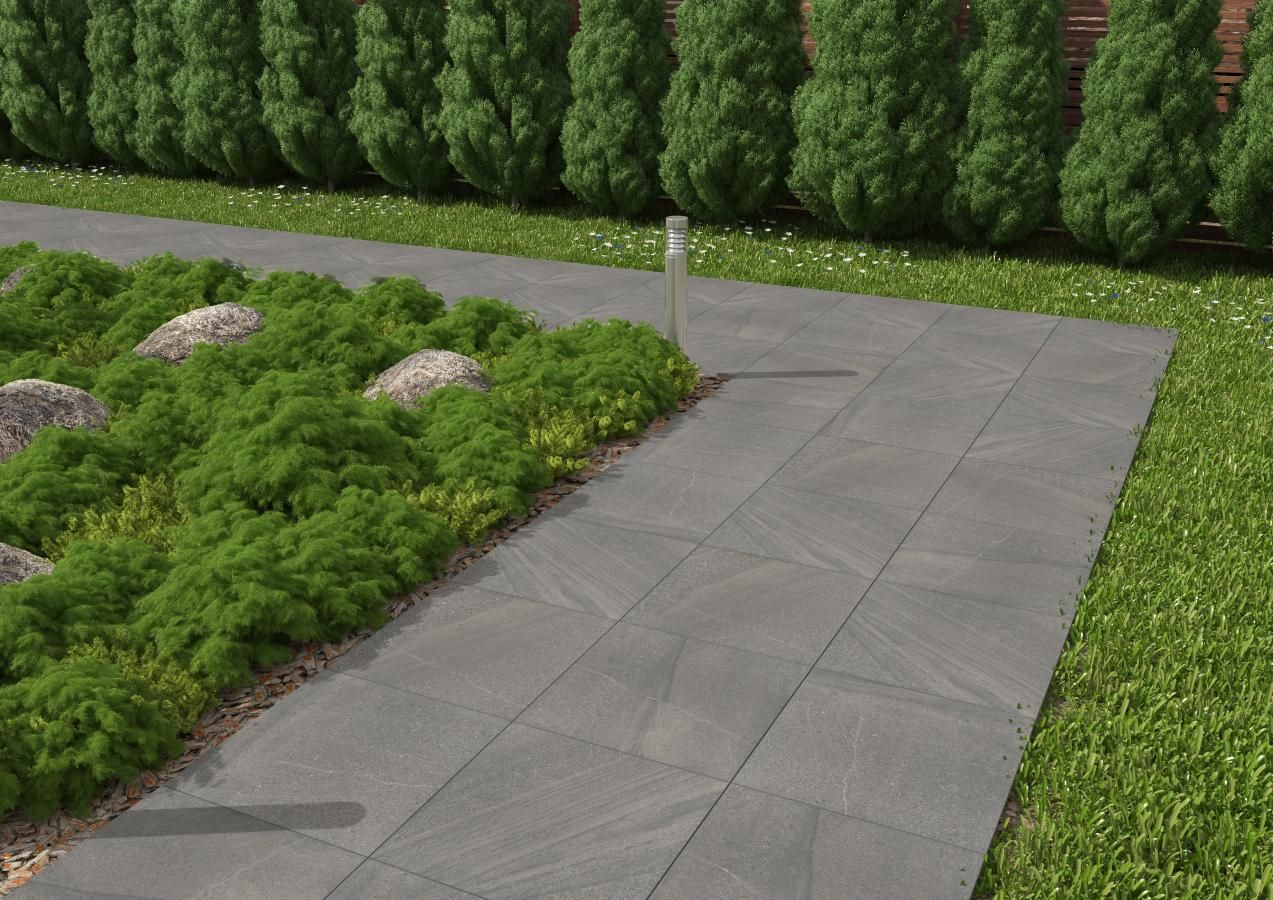 Dalle pietra carrelage ext rieur 2 cm gris anthracite for Carrelage exterieur 30x30