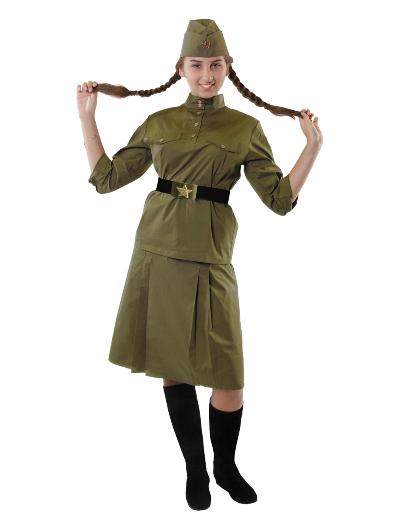 Военная гимнастерка для девочки с юбкой