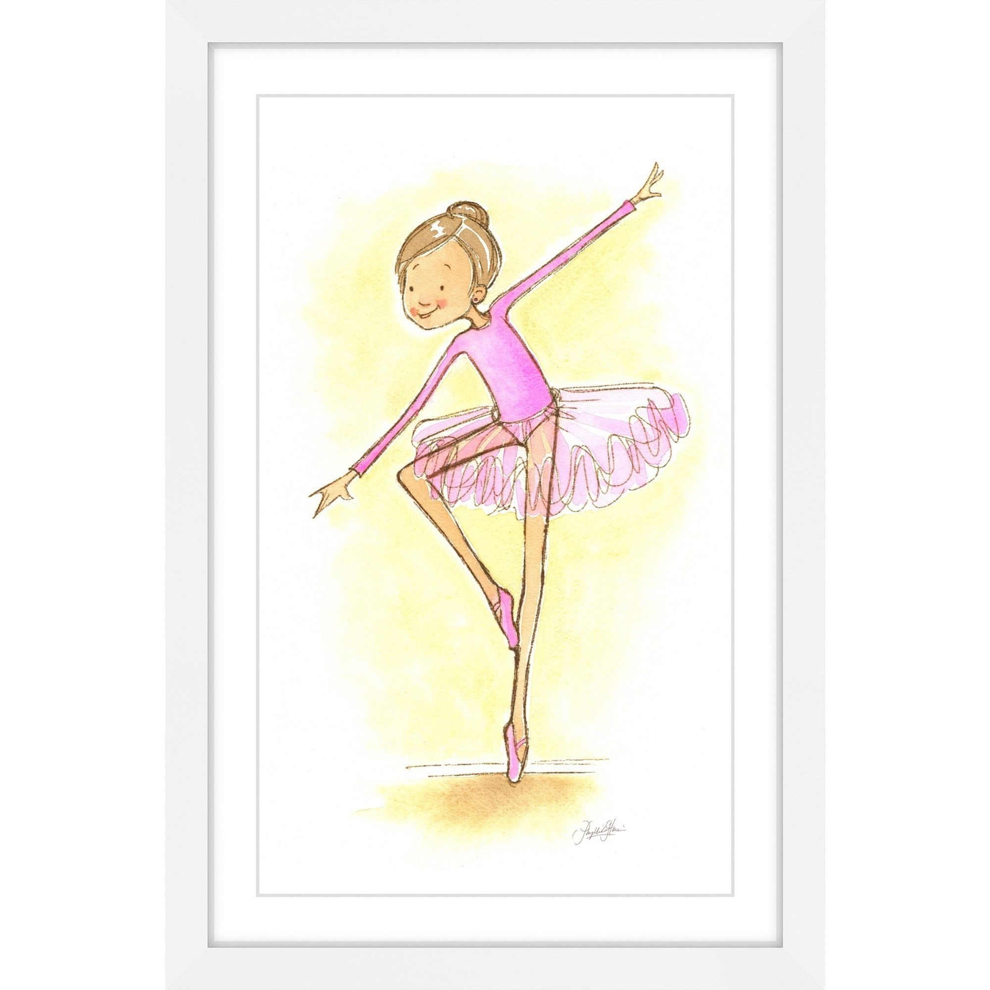 Marmont Hill - \'Ballerina\' by Phyllis Harris Framed Painting Print ...