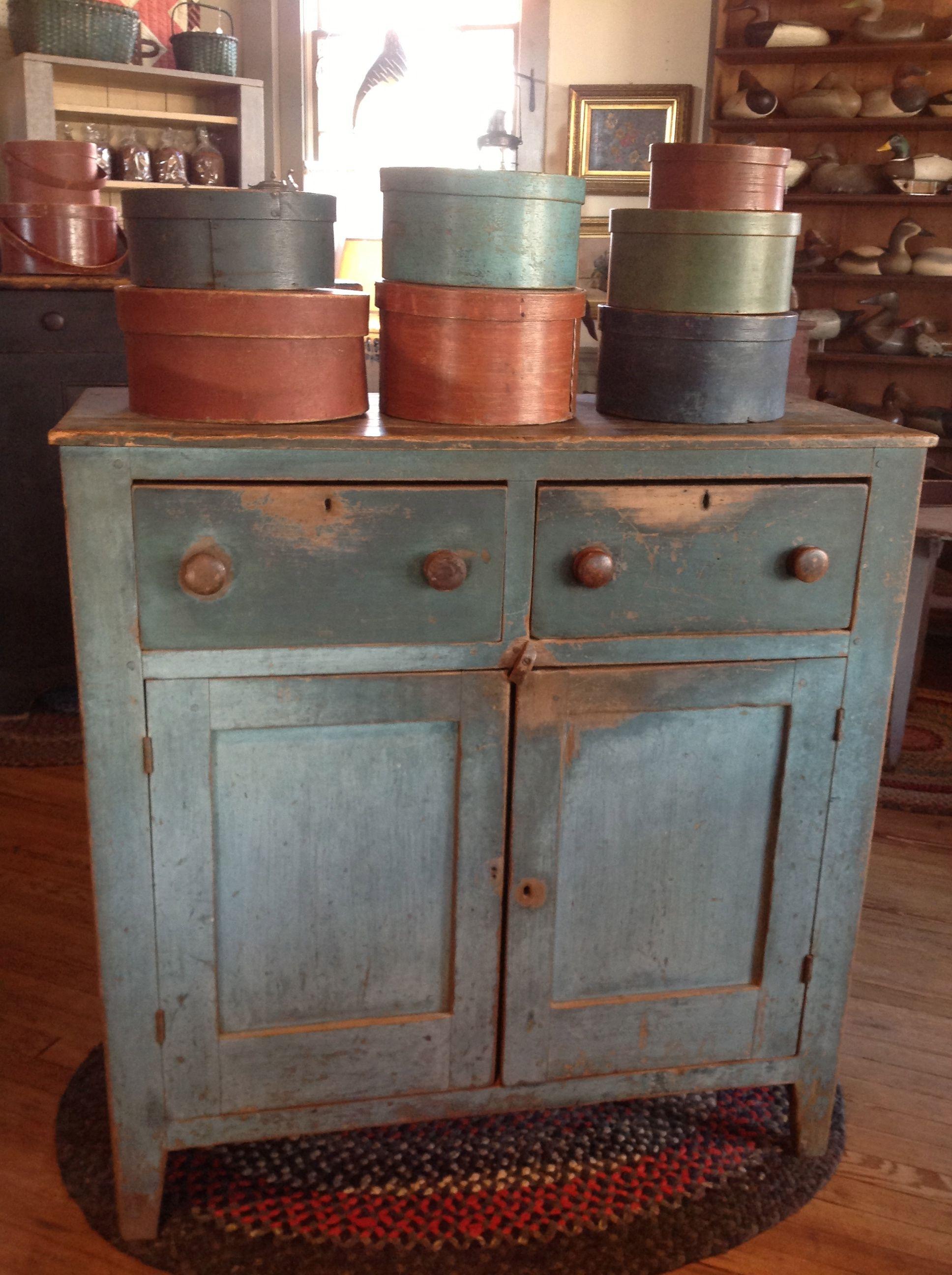 Country Treasures Primitive Furniture Pantry Boxes Primitive Decorating