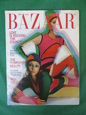 Vintage HARPER'S BAZAAR Magazine February, 1970 Cover by JAMES MOORE