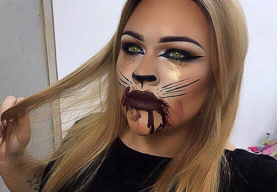 46 Kickass Halloween Cat Makeup Ideas for All the Feline Lovers - cat halloween makeup ideas