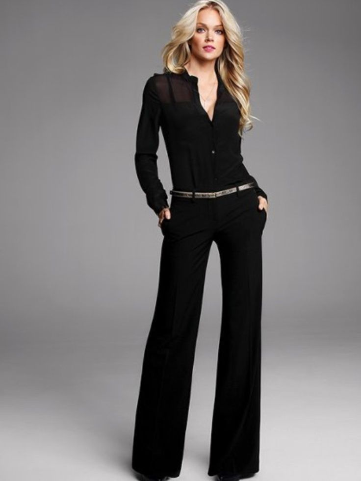 3650dfc2c10 Image result for all black business casual outfit ideas for women ...