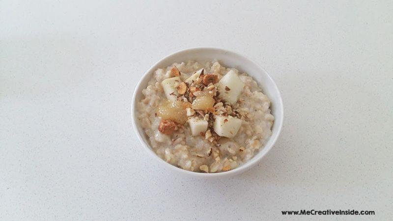 Me CreativeInside prepariamo il porridge fiocchi d'avena latte