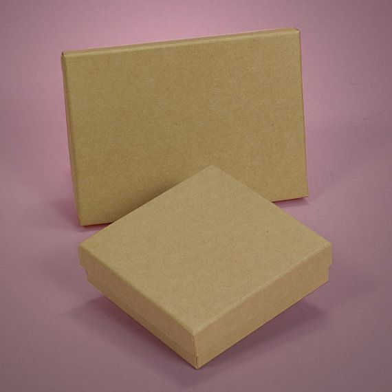 5 Natural Kraft Jewelry Boxes by PartySurprise on Etsy 450 Gift