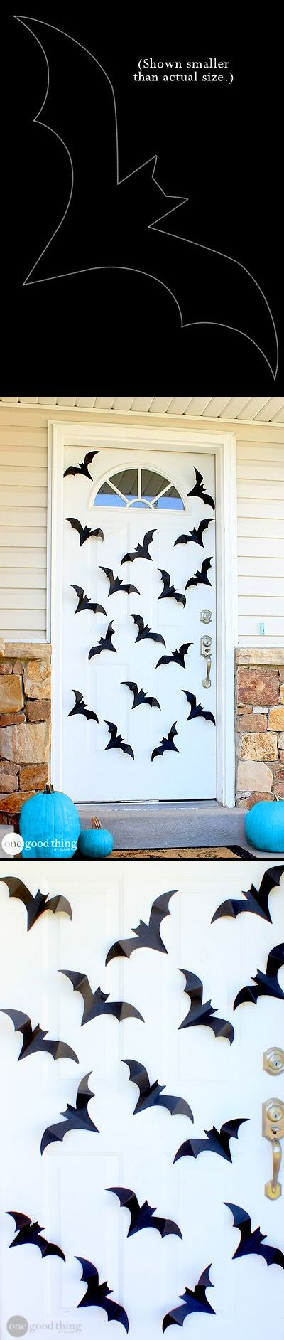 Spiders  Bats Oh My! Dress Up Your Front Door With This Simple DIY - halloween decoration ideas homemade