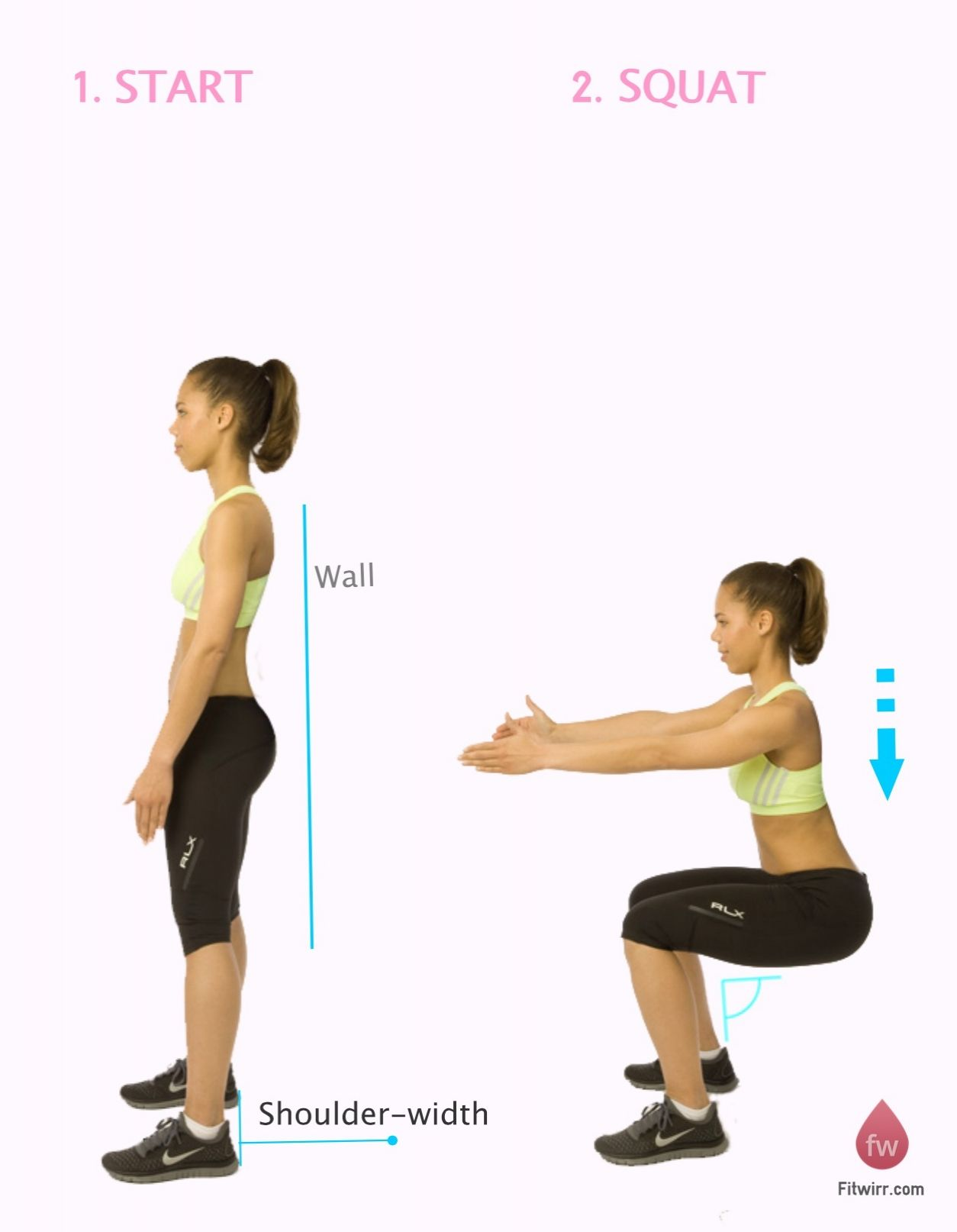 How to do wall squats squat workout and simple diet
